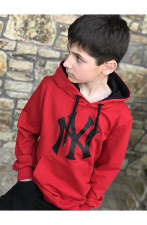 Худи для мальчиков модель 1106/2 цвет красный