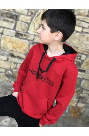 Худи для мальчиков модель 1107 цвет красный