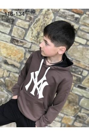 Худи для мальчиков модель 1106 цвет светло-коричневый