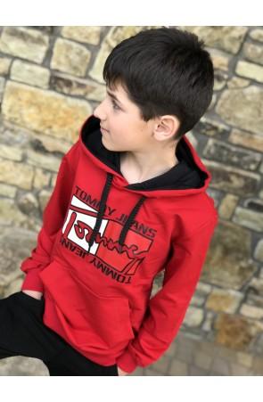 Худи для мальчиков модель 1111/1 цвет красный