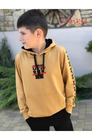 Худи для мальчиков модель 1118 цвет жёлтый