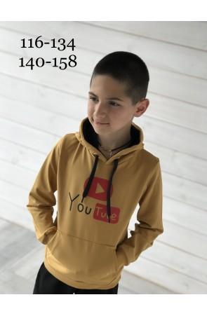 Худи для мальчиков модель 1120/1 цвет жёлтый