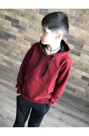 Худи для мальчиков модель 1114/2 цвет бордовый