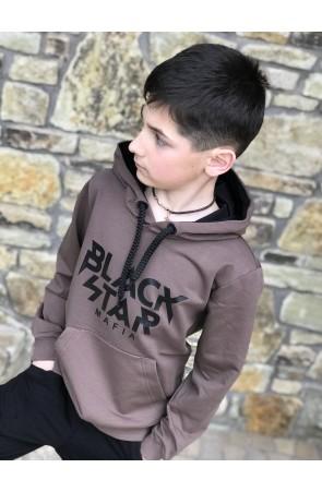 Худи для мальчиков модель 1108 цвет светло-коричневый