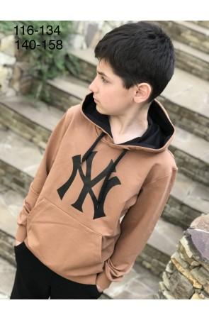 Худи для мальчиков модель 1106/3 цвет желто-коричневый