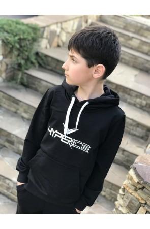Худи для мальчиков модель 1107/1 цвет чёрный