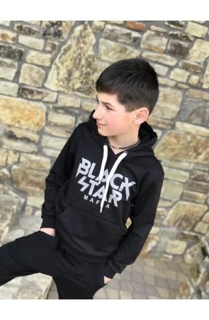 Худи для мальчиков модель 1108/2 цвет чёрный