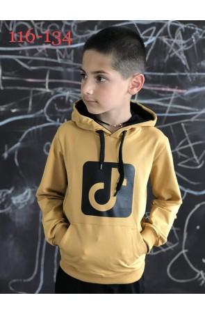 Худи для мальчиков модель 1122/2 цвет жёлтый