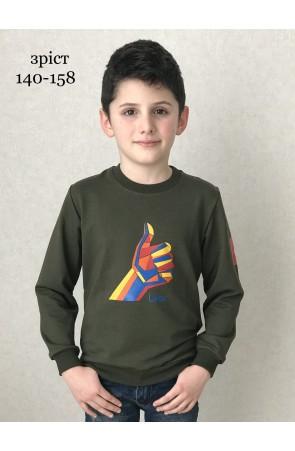 Свитшот для мальчиков модель 1116/2 цвет хаки