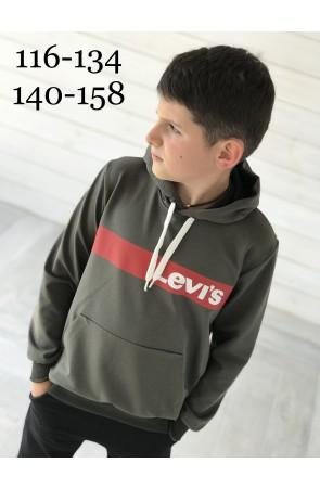 Худи для мальчиков модель 1119/3 цвет хаки