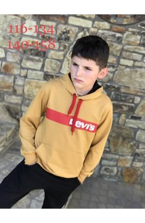 Худи для мальчиков модель 1119/1 цвет жёлтый