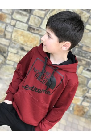 Худи для мальчиков модель 1112/3 цвет бордовый