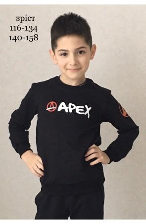 Свитшот для мальчиков модель 1117/1 цвет чёрный