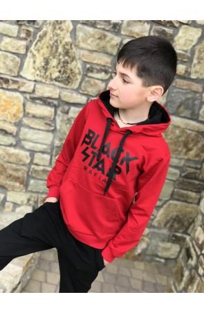 Худи для мальчиков модель 1108/1 цвет красный