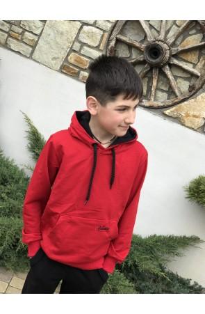 Худи для мальчиков модель 1114 цвет красный