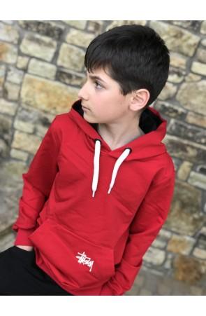 Худи для мальчиков модель 1109 цвет красный