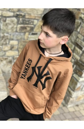 Худи для мальчиков модель 1101/1 цвет желто-коричневый