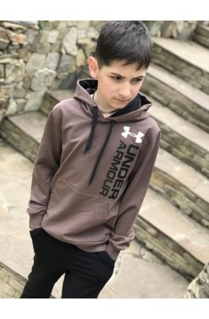Худи для мальчиков модель 1102 цвет светло-коричневый