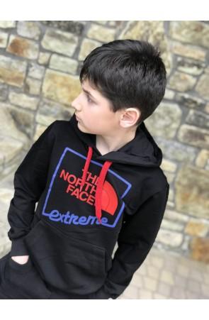 Худи для мальчиков модель 1112 цвет чёрный