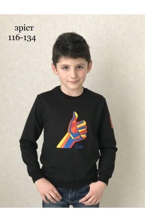 Свитшот для мальчиков модель 1116 цвет чёрный
