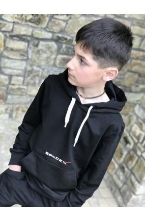 Худи для мальчиков модель 1104/2 цвет чёрный