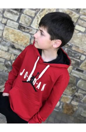 Худи для мальчиков модель 1113 цвет красный