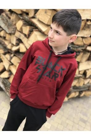 Худи для мальчиков модель 1108/4 цвет бордовый