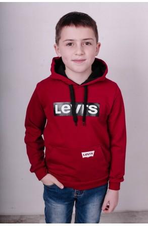Худи для мальчиков модель 2101 цвет бордовый