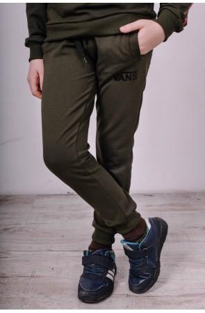 Спортивные штаны для мальчиков модель 1730 цвет хаки