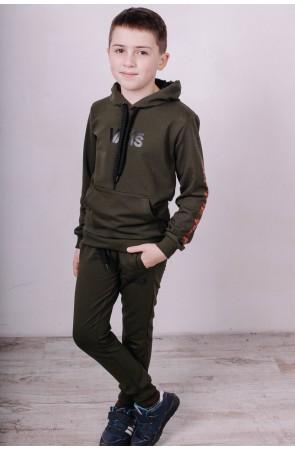 Спортивный костюм для мальчиков модель 2100 цвет хаки