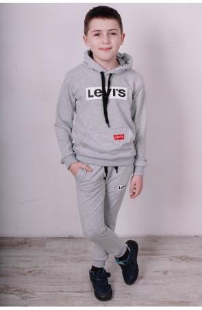 Спортивный костюм для мальчиков модель 2111/3 цвет серый