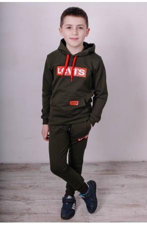 Спортивный костюм для мальчиков модель 2111/2 цвет хаки