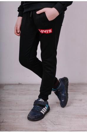 Спортивные штаны для мальчиков модель 1720/3 цвет чёрный