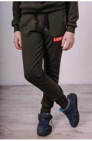 Спортивные штаны для мальчеков модель 1720 цвет хаки